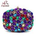 New style luxury fashion diamonds colorful gem ladies party dinner bag evening bags women's mini shoulder bag handbag purse