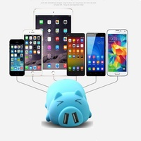 Cartoon Mobile Power Bank Charger External Battery 10000mAh Dual USB for Cellphone Smartphone Drop Shipping free shipping