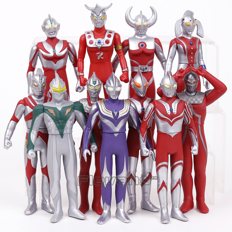 Ultraman Leo Jack Ace Taro Tiga Zoffy Seven Father / Mother of Ultra PVC Action Figures Kids Toys Gifts 16cm 11pcs/set 12pcs set children kids toys gift mini figures toys little pet animal cat dog lps action figures