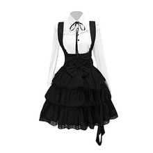 Vintage Elegant Party Gothic Summer Women Lolita Dresses Big Size Chic Ruffles Lace Up Bowknot Retro Princess Female Goth Dress все цены
