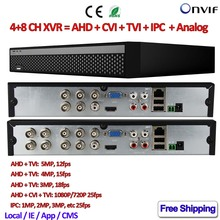 Wholesale prices 8Channel digital video recorder for cctv 5MP AHD TVI camera ONVIF 5in1 4CH Hybrid XVR for Security 4MP TVI 1080P CVI camera, IPC