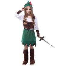 7 Sets lot Free Shipping Children Girls Princess Costumes Carnival Halloween Masquerade Peter Fancy Dress Kids