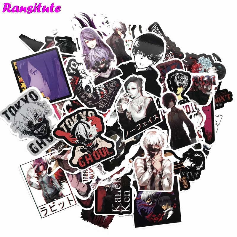 52pcs/set Japan Horror Anime Sticker DIY Luggage Laptop Skateboard Car Motorcycle Bike Sticker Luggage Sticker