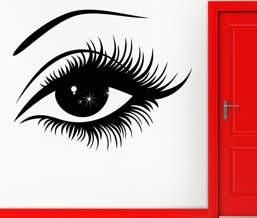 Pvc home decoration wall sticker hot sexy girl eyes wall mural pvc home decoration wall sticker hot sexy girl eyes wall mural vinyl home decoration wallpaper removable wall sticker y 400 in wall stickers from home amipublicfo Images