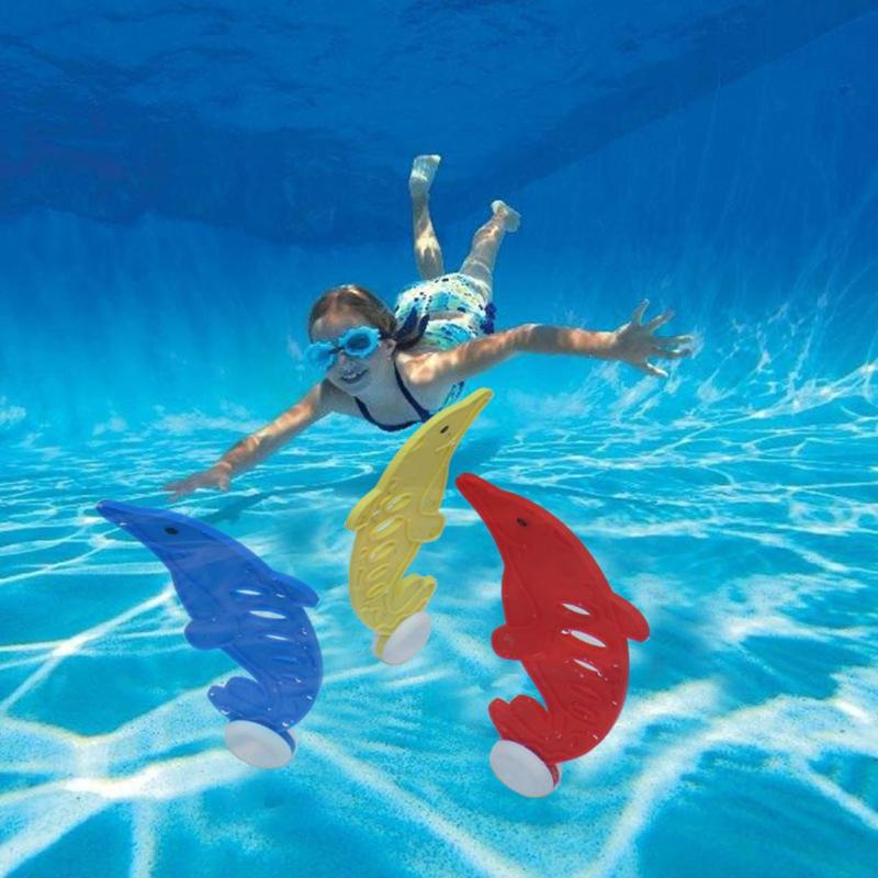 3pcs Plastic Underwater Dive Grab Dolphin Modeling Swimming Pool Kid Toys beach summer water play Toys ...
