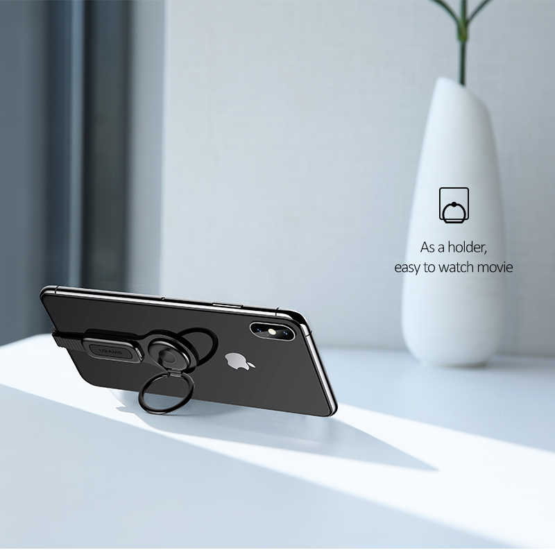 USAMS For Dual lighting Ring Holder to 3 5mm Audio& fast charging Game  Adapter Adjustable Phone bracket For iPhone XS X IOS 12
