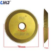CHKJ Высокоскоростная сталь 70*7,3*12,7 мм лезвие для Wen Xing ключ Режущий Станок ключ лезвие режущий слесарные инструменты 80T