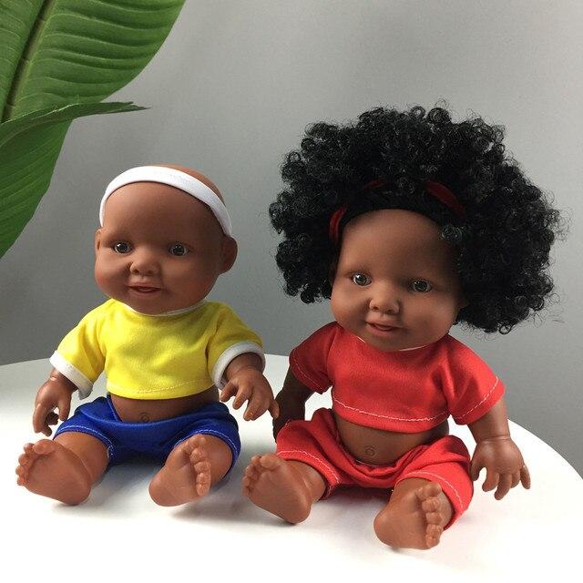 Lol Boneca Surpresa Para As Meninas Boneca de Brinquedo de Plástico Para Crianças Bebe Reborn De Menina Corpo De Silicone 10 polegada Bebê Africano bonecas K418