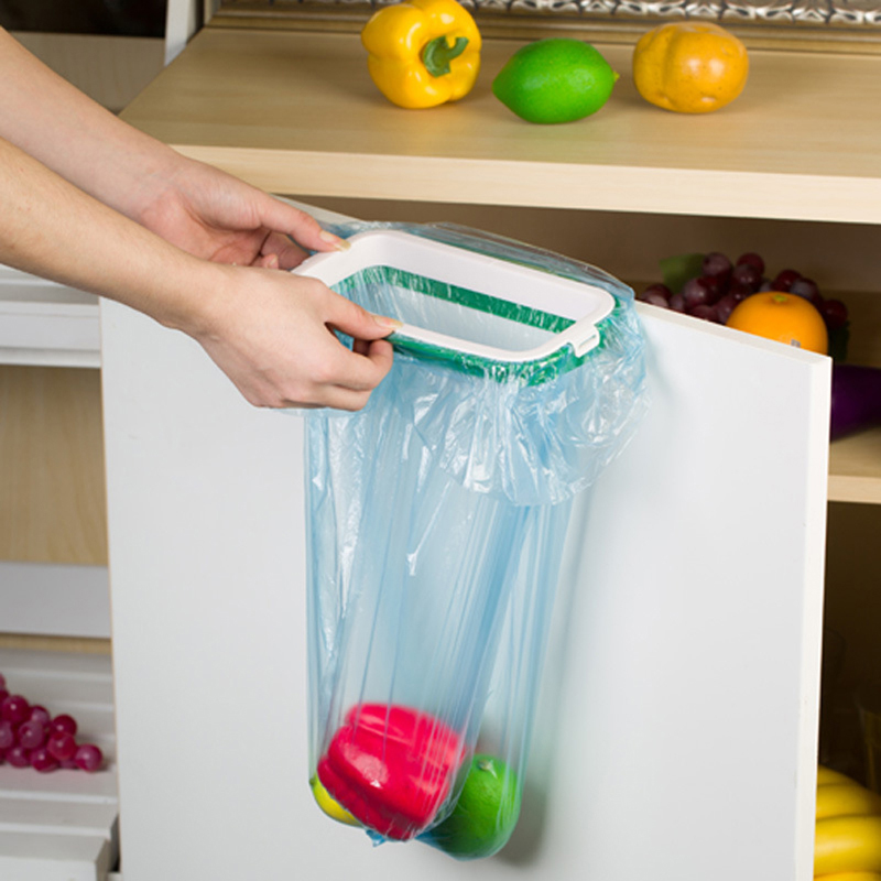 2018 NEW New Useful Mini Portable Plastic Door Trash Garbage Bag Can Rack Holder Kitchen Tool Convenient