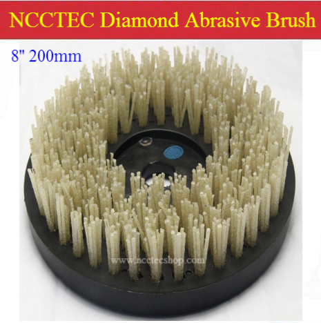8'' Diamond abrasive brush | 200mm circular brush for granite | Represent natural color and best crystal texture image