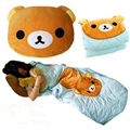 Rilakkuma San-X Relax Bear Back 2 in 1 Cushion Pillow Air Conditioning Blanket 16032904