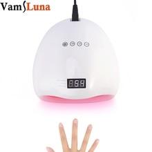 Secador de uñas ULTRAVIOLETA de la lámpara LED para todos los tipos Gel con 3 modos de sequía Ajuste del contador de tiempo Exhibición del LCD y sensor automático