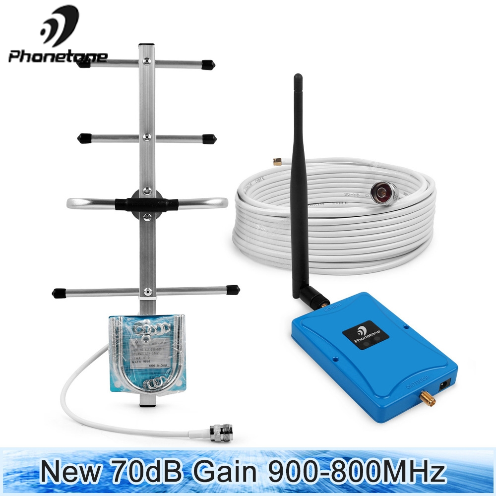 Gsm Repeater 2G 4G Cellular Signal Booster 900/800MHz 70dB Gain LTE Cell Phone Signal Repeater Amplifier & yagi for Voice & dataGsm Repeater 2G 4G Cellular Signal Booster 900/800MHz 70dB Gain LTE Cell Phone Signal Repeater Amplifier & yagi for Voice & data