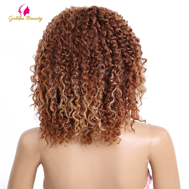 Online Shop Golden Beauty 2pcspack 10 Inch Kinky Curly Weaving Hair