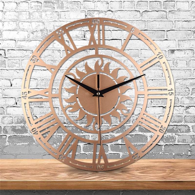 Vintage Wall Clocks Creative Retro Decorative Sun Roman ...