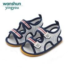 c4bbf3484 Baby boy sandal shoes newborn crib brand shoe soft sloe bebes summer  footwear casual cute for kid wholesale 2018 fashion toddler