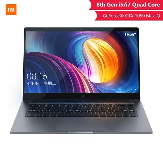 Original Xiaomi Notebook Pro 15.6 inch GTX 1050 Max-Q 4GB GDDR5 Laptop Game Office Computer I5 8G/I7 16G Professional notebook