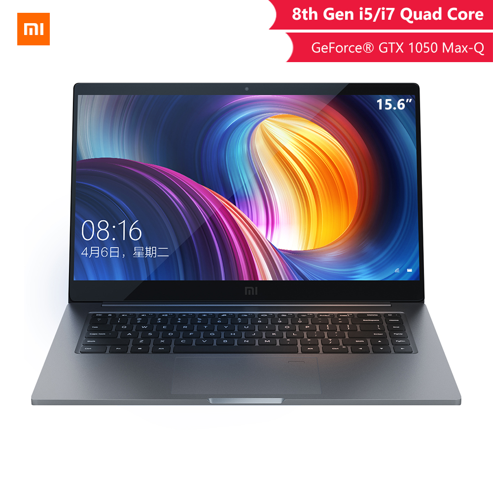 Original Xiaomi Notebook Pro 15.6 Inch GTX 1050 Max-Q 4GB GDDR5 Laptop Game Office Computer I5 8G/I7 16G Professional Notebook