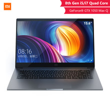 Asli Xiaomi Notebook Pro 15.6 Inci GTX 1050 Max-Q 4 GB GDDR5 Laptop Game Komputer Kantor I5 8 g/I7 16G Profesional Notebook(China)