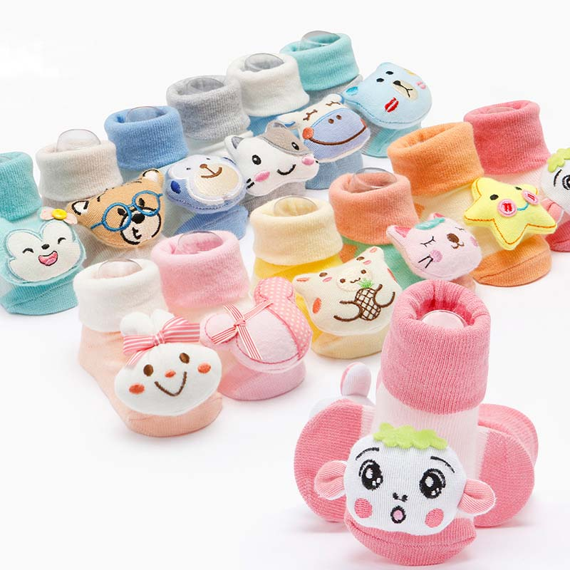 12 piece/lot cute Lovely socks for baby girls/boys spring autumn fall kids cartoon wear(0-9 month) 12SS503-30R [Eleven Story]