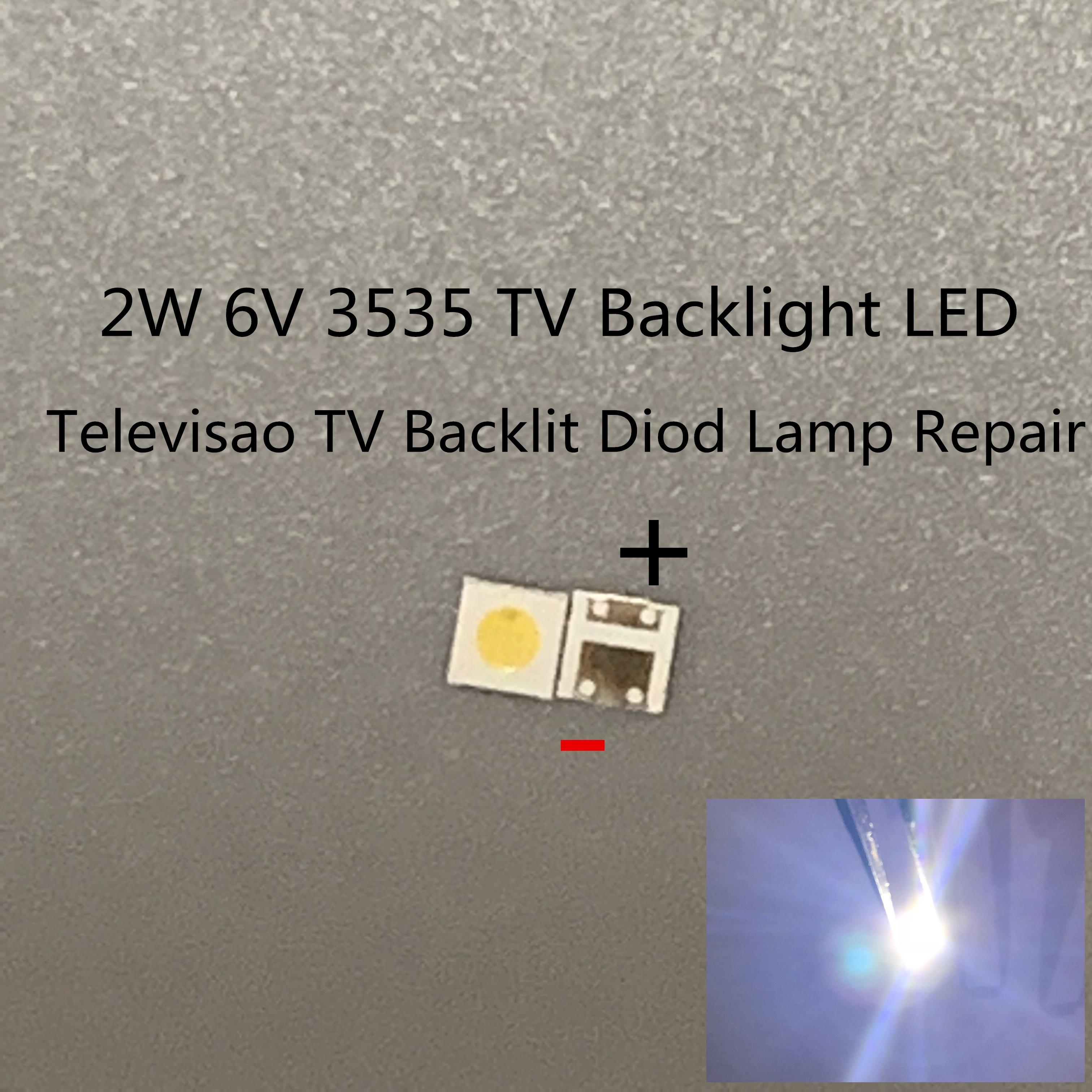 Светодиодный SMD диоды для подсветки телевизора, 1000 шт., 2 Вт, 6 в, 3535, холодный белый ЖК экран, подсветка телевизора, подсветка телевизора, Diod лампа для ремонта|Подвесные лампочки|   | АлиЭкспресс