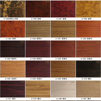 Wood paper film vinyl PVC home car decoration films red black wood stickeds 1.24x50m/Roll