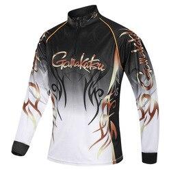 2019 New Brand Gamakatsu Fishing Shirts Outdoor Sport Quick Dry Mens Fishing Clothes Plus Size Anti Uv Cycling Fishing Clothing