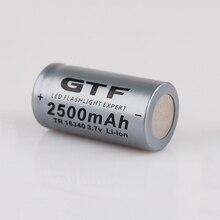 20 шт., литий ионные аккумуляторные батарейки CR123A 3,7 в 2500 мАч 16340