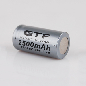 Image 1 - 20 قطعة CR123A 3.7V 2500mah 16340 بطارية ليثيوم أيون قابلة للشحن بطاريات مصباح ليد جيب الشعلة سيارة كهربائية لعبة بطارية