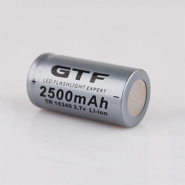 20 قطعة CR123A 3.7V 2500mah 16340 بطارية ليثيوم أيون قابلة للشحن بطاريات مصباح ليد جيب الشعلة سيارة كهربائية لعبة بطارية