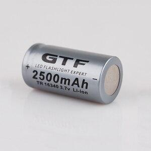 Image 1 - 20 pièces CR123A 3.7V 2500mah 16340 batterie Li ion Batteries rechargeables lampe de poche LED torche voiture électrique jouet batterie