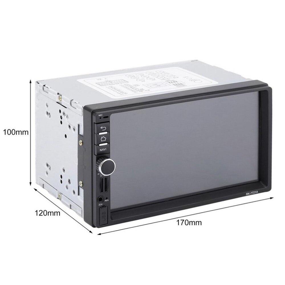 Автомобильный DVD с картой Америки RK 7721A Профессиональный 7 дюймов HD 1024*600 емкостный экран 7 красочных огней функция Горячая Прямая поставка - 6