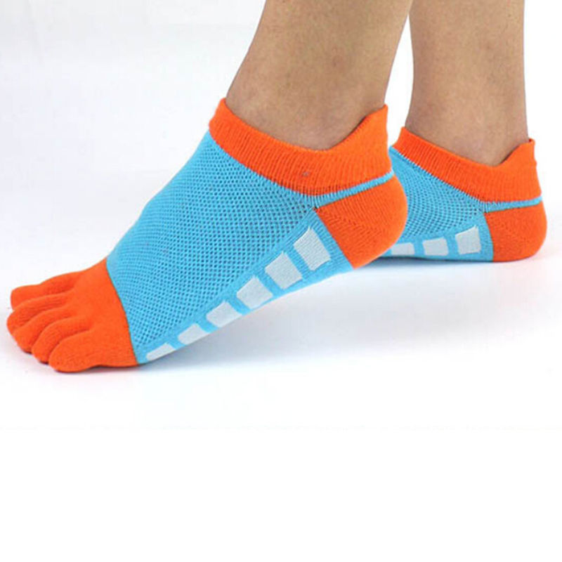 5 Colors Summer New Mens Toe Socks Cotton Five Fingers Socks Casual  Socks With Toes Ankle Socks