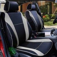Wenbinge 특수 가죽 카시트 커버 For Mazda 3 6 CX-5 CX7 323 626 M2 M3 M6 Axela Familia 자동차 액세서리 자동차 스타일링