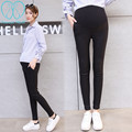 8818# 2017 Spring Summer Fashion Pencil Elastic Waist Maternity Pants Clothes For Pregnant Women Skinny Belly Pregnancy Trousers