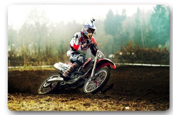Charmhome Custom Front Door Mat Motocross Sand Race Anti Slip