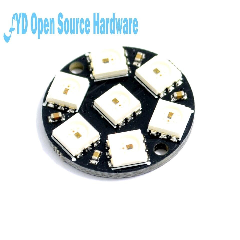 7 биты 7 X WS2812 5050 RGB светодио дный кольцо лампа с интегрированным драйверы