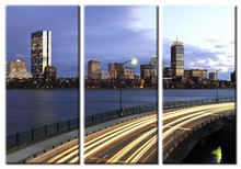 3 pieces framed Wall Art Picture Gift Home Decoration Canvas Print painting Urban landscape series wholesale/