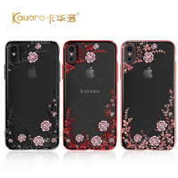 Fashion Electroplate Hard Case For Apple IPhone 8 With Crystals From Swarovski Diamond Rhinestone Bling Case