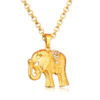 Stainless Steel Trendy Cool Elephant Pendants For Men S Gift Wholesale Gold Plated Choker Chain Necklaces