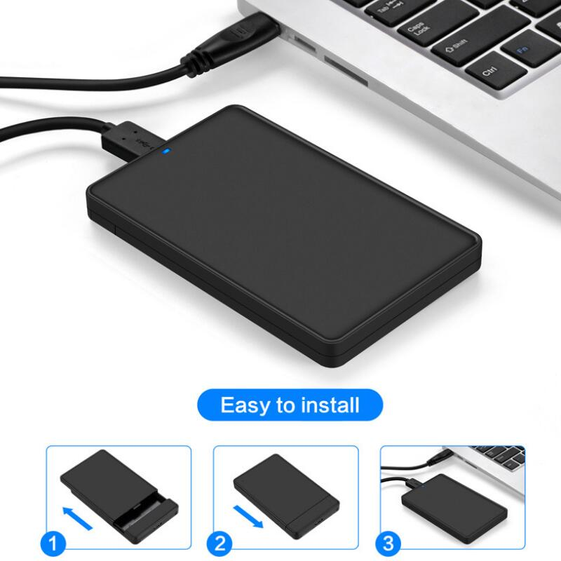 2.5 Inch SATA To USB 3.0 SSD Adapter For Samsung Seagate SSD 2TB Hard Disk Drive Box External HDD Enclosure Memory Card Adapters