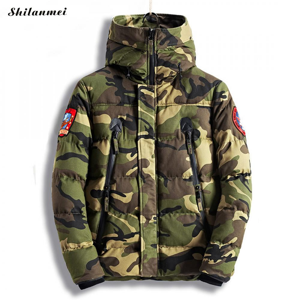 2017 Winter New Jacket Men Warm Coat Fashion Casual Parka Army Green Military Thickening Down Coat Jackets Manteau Homme Hiver men ultra light large size thin parka jacket korean black cardigan china hoody winter overcoat slim warm military manteau homme