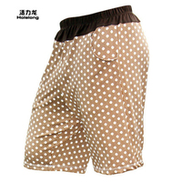HOLELONG Summer new men's casual pants five pants at home pajama pants loose breathable men shorts elastic head HCPS030