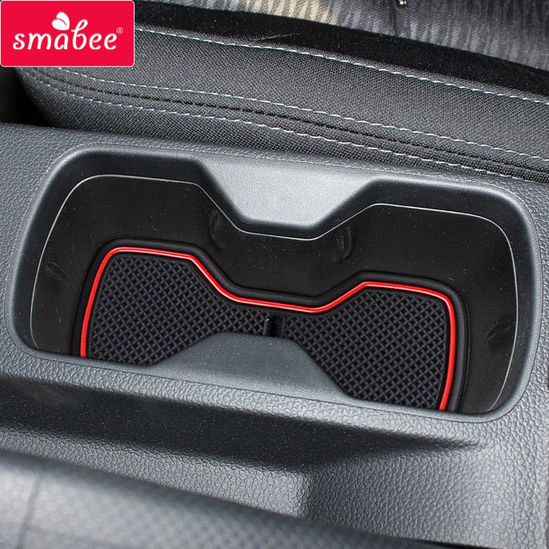 Gate Slot Pad For SSANGYONG TIVOLI 2015-2018 Dust Mats Water Coaster Non-slip Mats RED WHITE