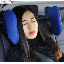 أحدث قابل للتعديل سيارة مقعد على كلا الجانبين مسند الرأس الرقبة دعم الذاكرة القطن وسادة انفصال السفر مسند الرأس CHIZIYO