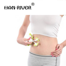 Hot selling four-wheel flower-type waist massage modeling instrument weight loss health