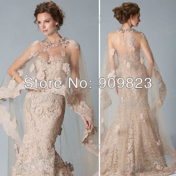 Sweetheart Beaded Hem Mermaid Lace Formal Couture Evening Gowns ...