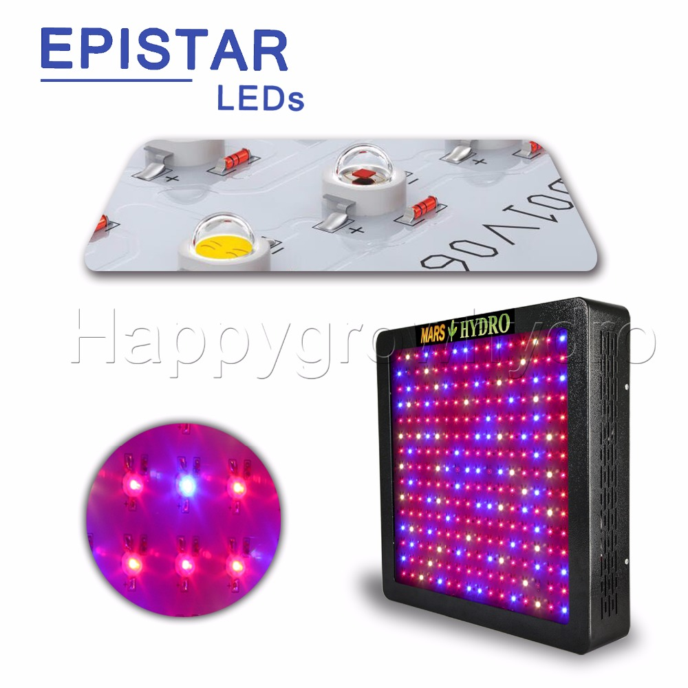 3PCS MarsII 1200 LED Grow Light Lamp For Hydroponic Indoor Planting ...