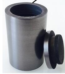 99.95%Pure Graphite Crucible with Lids R20* H15mm  Cylindrical  Crucible Graphite Crucible
