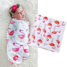 Emmababy Мода г. милые новые Фламинго малыша для новорожденного мягкий пеленать одеяло Спальный мешок теплый пеленать обёрточная бумага